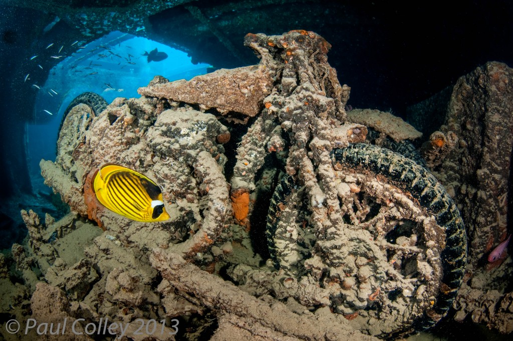 Motor Bike on the SS Thistlegorm, Red Sea