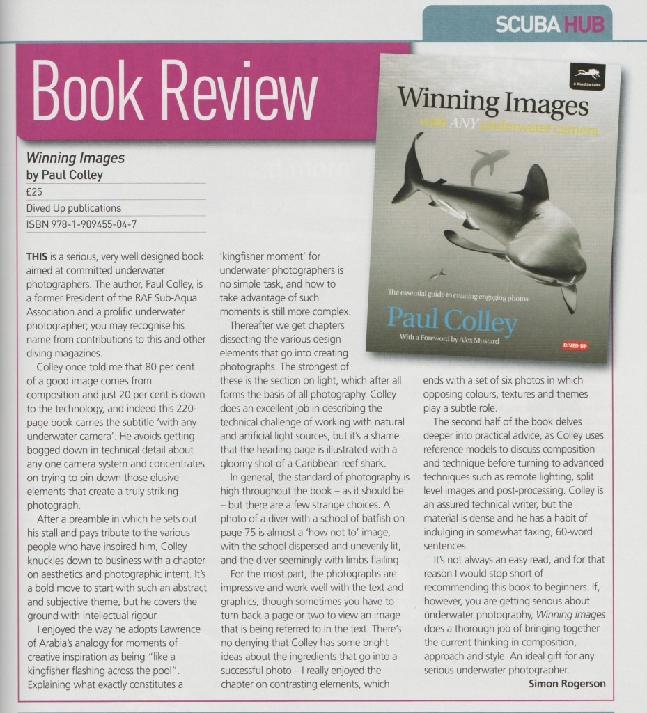 Scuba magazine review by editor Simon Rogerson